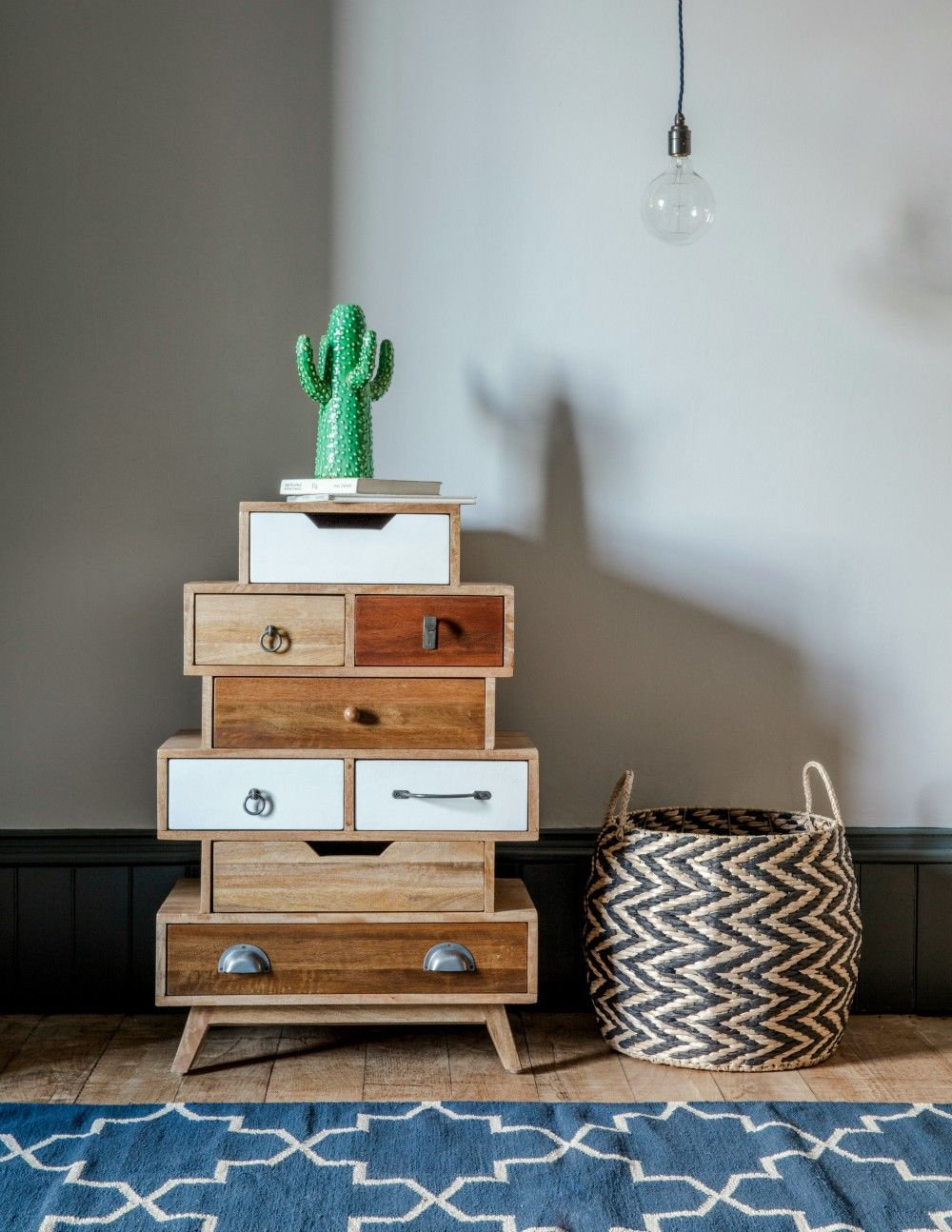 Shoreditch Design Rooms: Natural Shoreditch Mixed-Up Drawers By Rose & Grey (With