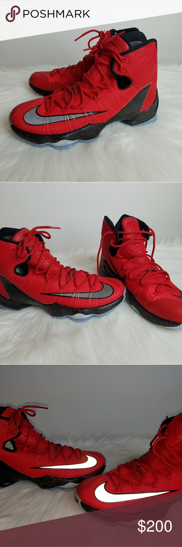 8a26cf692cfd LeBron James Elite MVP Red Nikes Size 10.5 New! Very rare and very sought  after