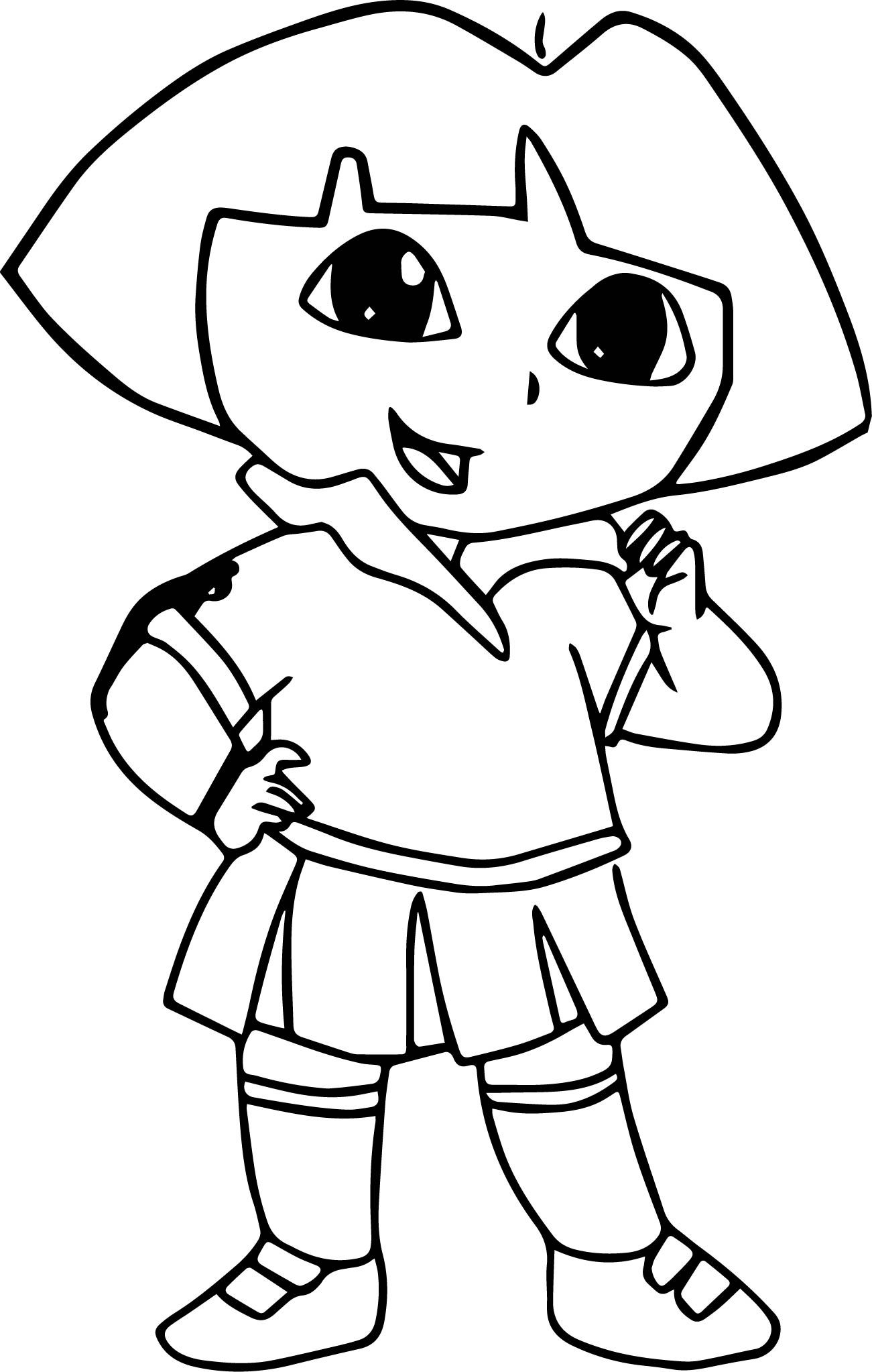 Nice Draw Dora The Explorer Picture Coloring Page