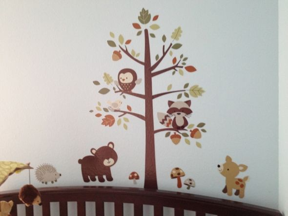 Forest friends wall decor stickers