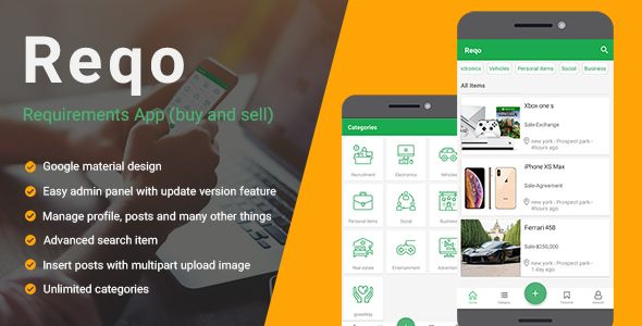 Reqo - Buy & sell application react native (ads Classified