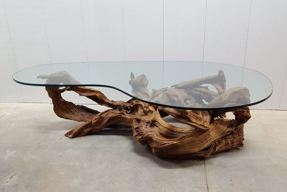 Kidney Shaped Glass Coffee Table 9