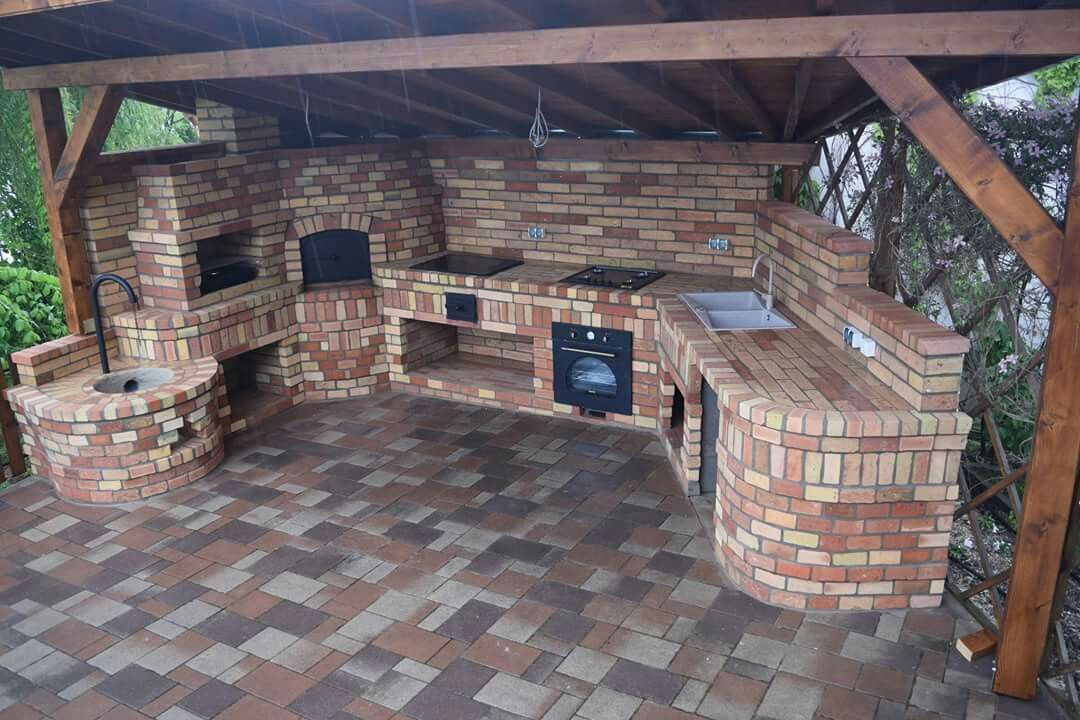 Brick Outdoor Cooking Area Backyard Fireplace Outdoor Cooking Area Backyard Bbq Grill
