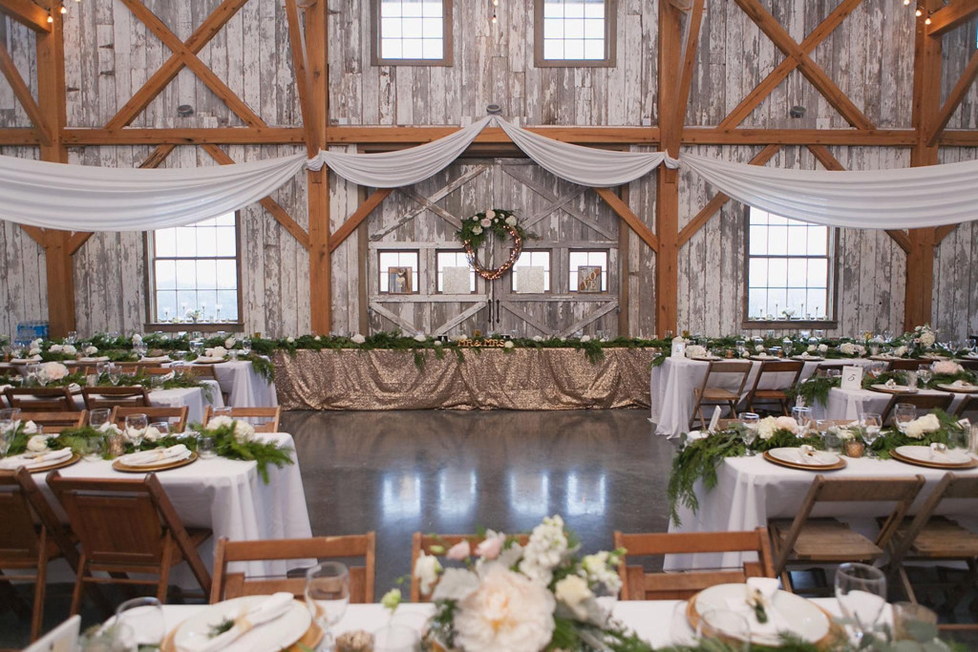 Glistening & Glamorous Fall Wedding at Weston Red Barn