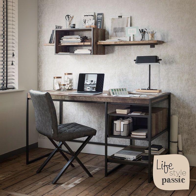 Bureau Teakhout Metaal Landelijk Gerecycled Desk Teak Wood