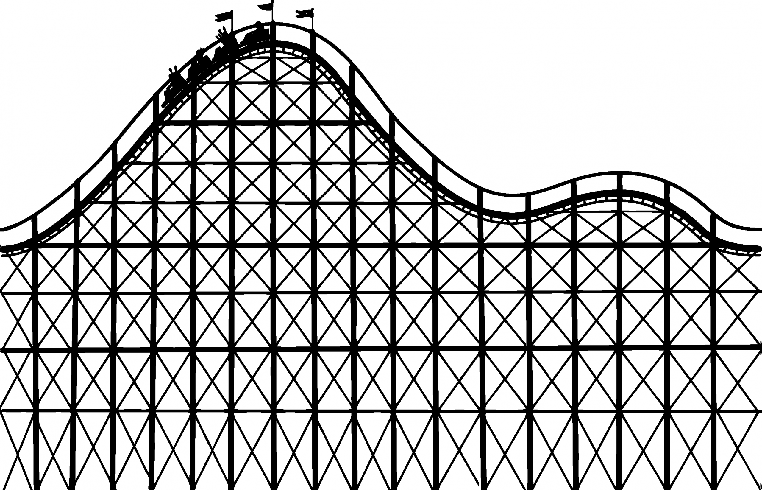 Roller Coaster Coloring Page Fresh Rollercoaster Free Coloring Pages Roller Coaster Roller Coaster Drawing Amusement Park