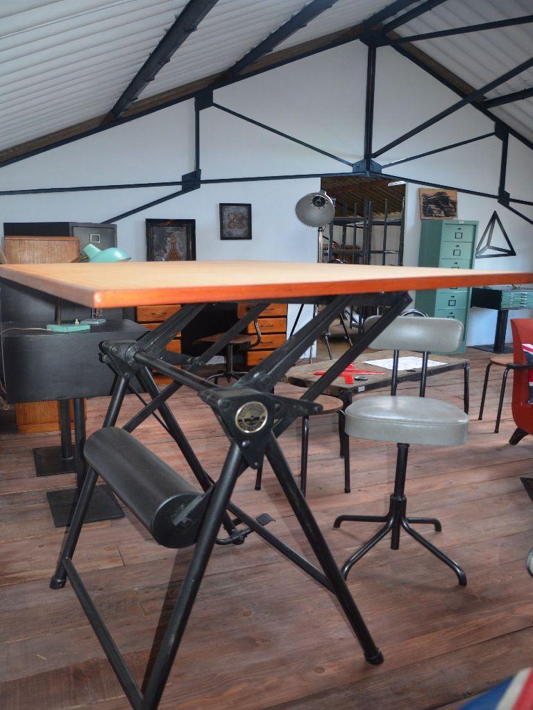 table dessin table architecte table industrielle table. Black Bedroom Furniture Sets. Home Design Ideas