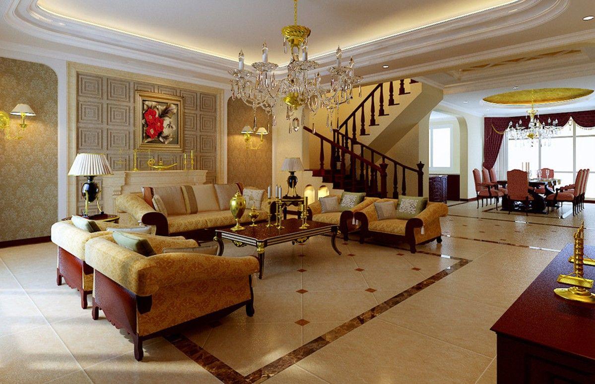 Luxury Interior Design Golden design for luxury villa interior