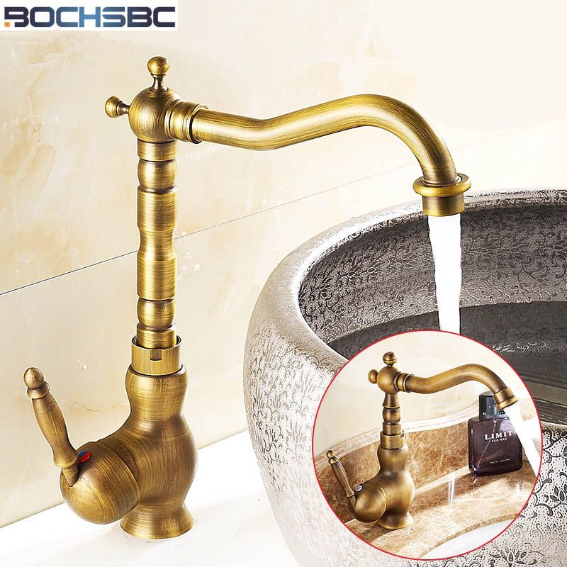 BOCHSBC Basin Faucets European Style Antique Tap Hot and Cold Water ...