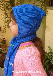 talla 40 bf5b8 b56b2 Tutorial: cómo tejer una bufanda con capucha para niños en ...