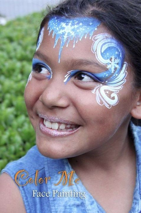 Pin By Color Me Face Painting On Color Me Face Painting Frozen Face Paint Face Painting Christmas Face Painting