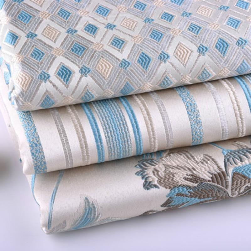 Thick European Silk Imitation Upholstery Yarn Dyed Jacquard Sofa Pillow Cushion Case Tablecloth Fabric Non Slip Tablecloth Fabric Sofa Cloth Fabric Sofa