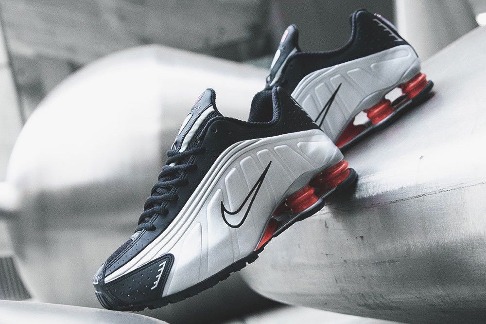 size 40 96af8 6a829 Nike Shox R4 Black Silver Shoe Release Details Shoes Trainers Kicks  Sneakers Footwear Cop Purchase Buy Now Soon Available