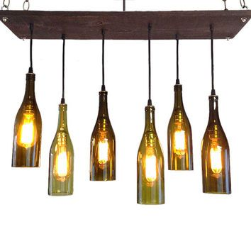 Wine bottle chandelier industrial chandelier modern lighting mid wine bottle chandelier industrial chandelier modern lighting mid century chandelier wine aloadofball