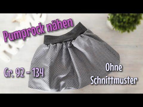 Bündchen Pumprock - Nähanleitung für Anfänger - Nähtinchen - YouTube ...
