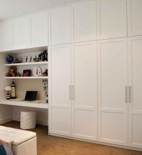 Built In Wardrobe And Desk Google Search Build A Closet Diy Built In Wardrobes Bedroom Cupboards