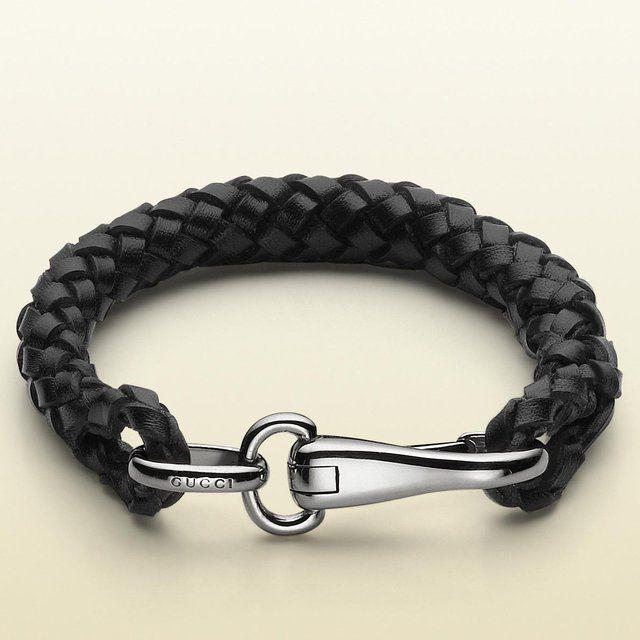 cdf0af1f3 Leather Bracelet with Clasp by Gucci | Gentleman | Gucci bracelet ...