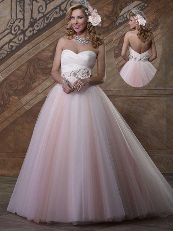 Brautkleid tull blumen