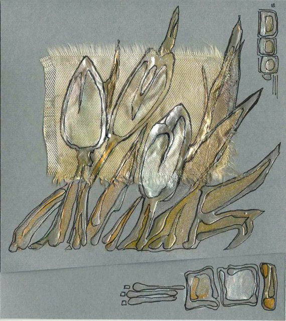White tulips II  blank greeting card for any occasion by Vlada19, $7,80
