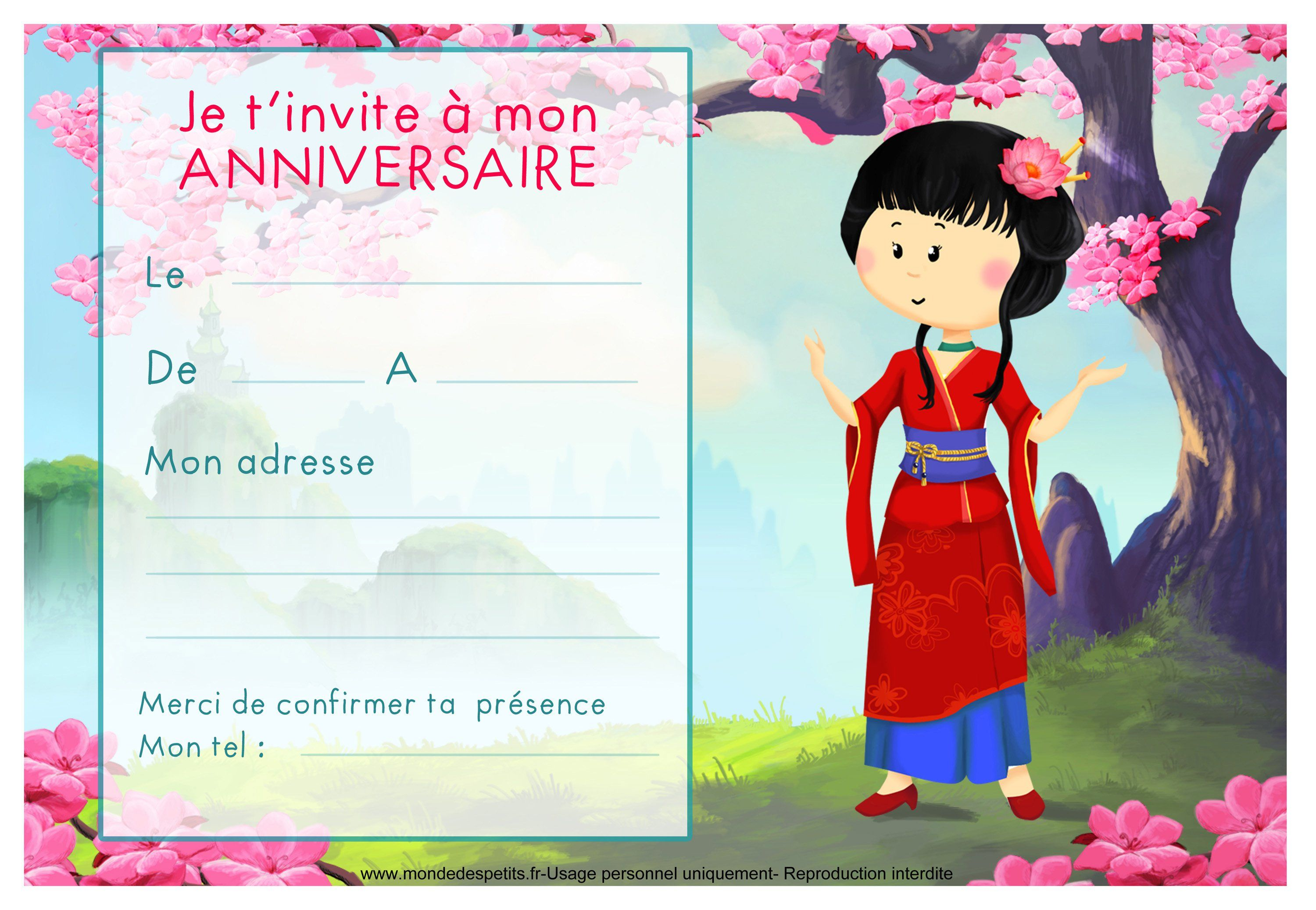 Top carte invitation anniversaire imprimer : Cartes invitation  MD67