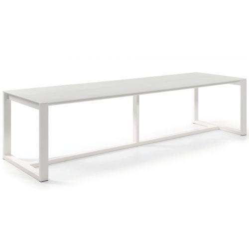 Table de jardin 300 cm en aluminium, plateau verre, Montella ...