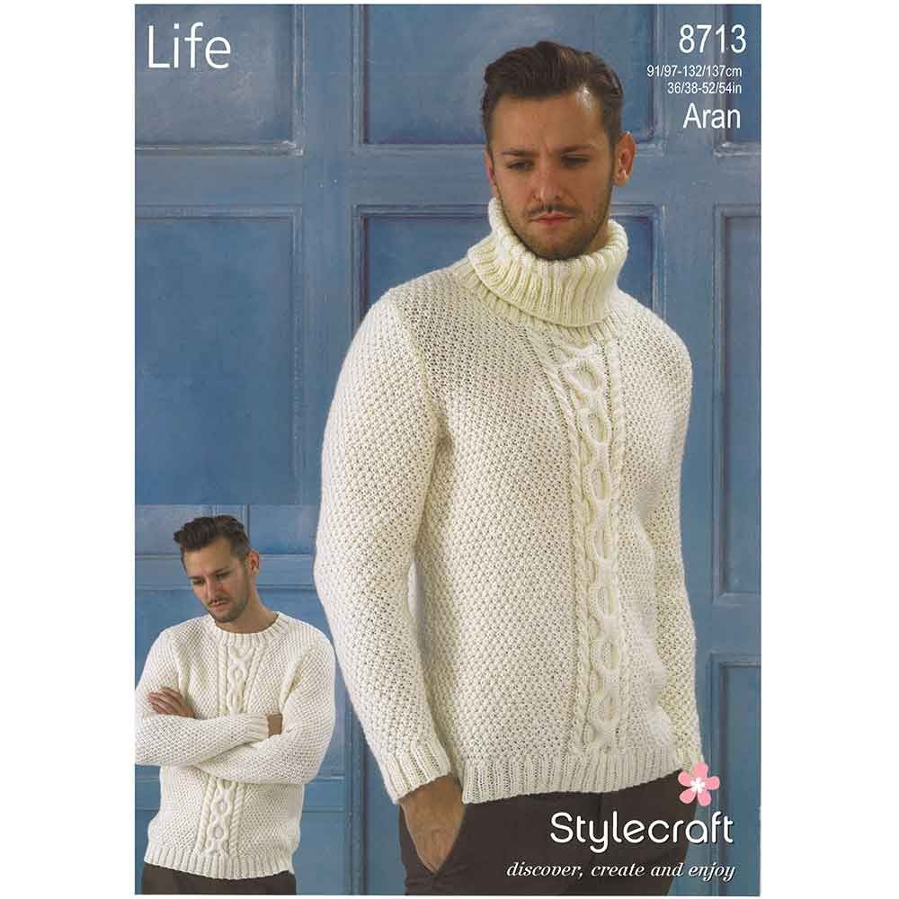 Men\'s Aran Sweaters in Stylecraft Life Aran | Kŋɪʈʈɪŋg foɽ meŋ ...
