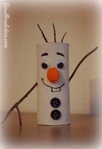 Diy sp cial no l avec le c l bre bonhomme de neige olaf de la reine des neiges en rouleau - Pere noel en rouleau de papier toilette ...