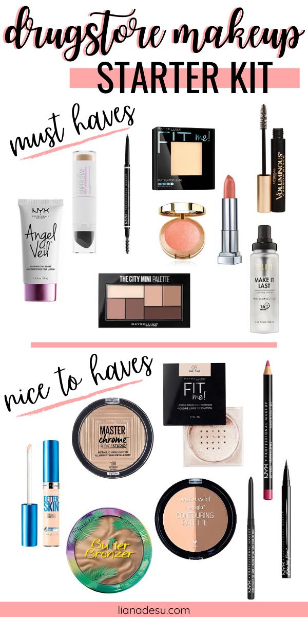 Ultimate Drugstore Makeup Starter Kit for Beginners - liana desu