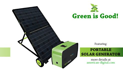 Solar powered portable generator! Cool, green & perfect for camping, tailgating, etc Worth every penny! $1549.00