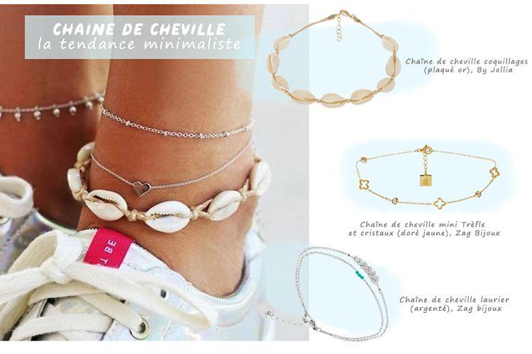 bracelet cheville zag