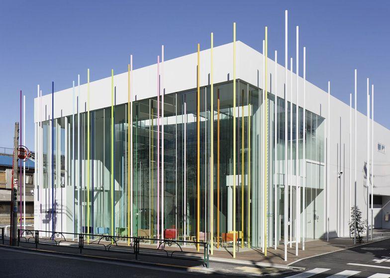 Sugamo Shinkin Bank, Ekoda With Coloured Sticks | Emmanuelle Moureaux