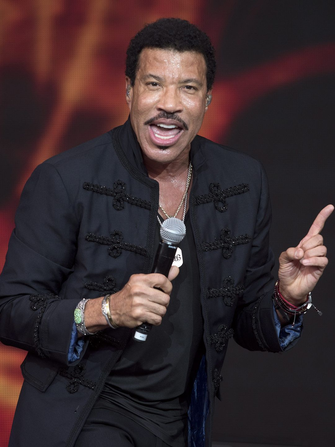 Singer Lionel Richie performs at the Glastonbury Festival.  HANNAH MCKAY, EPA