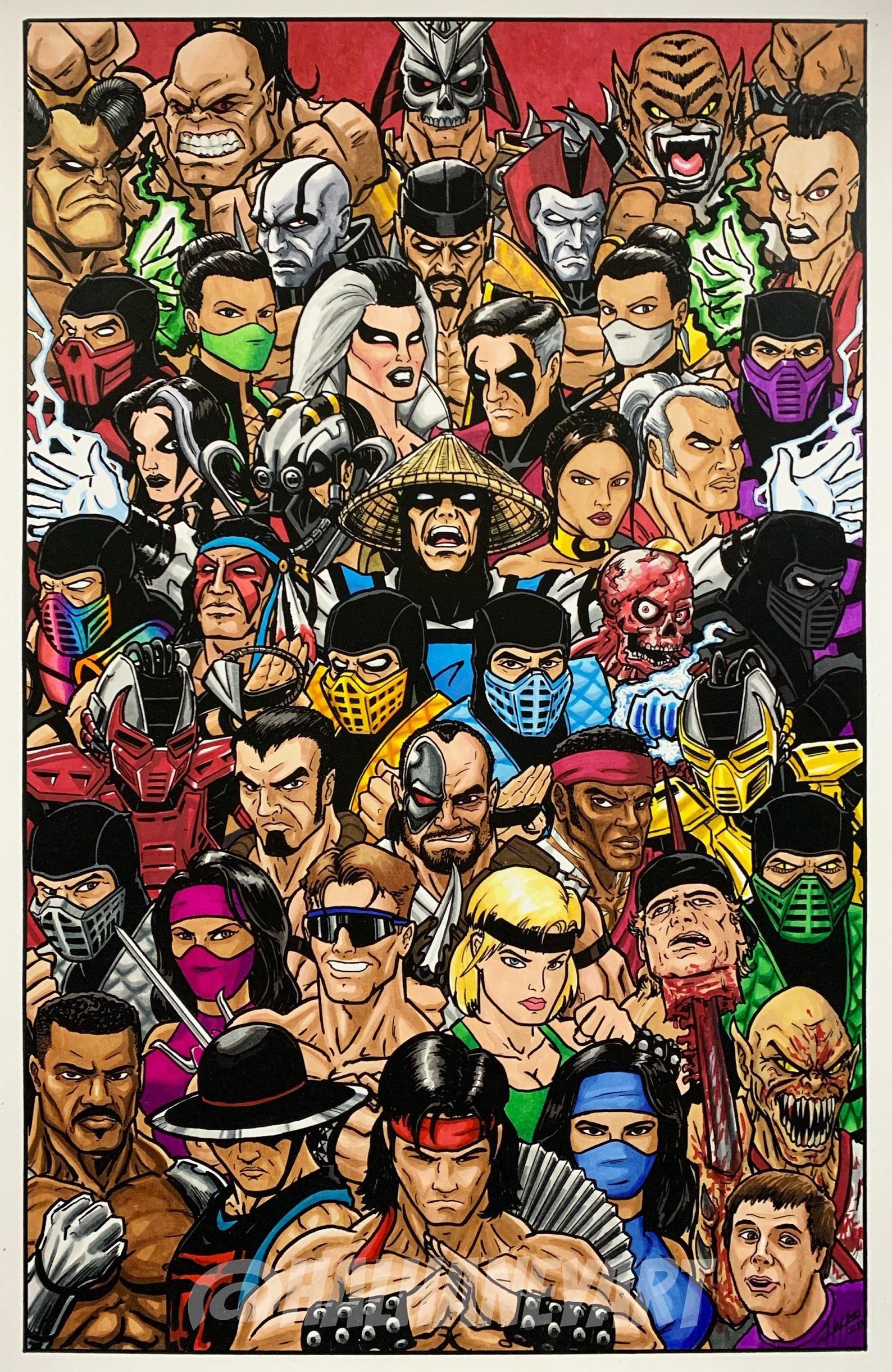 Mortal kombat 90s 11x17 fine art print in 2020 mortal
