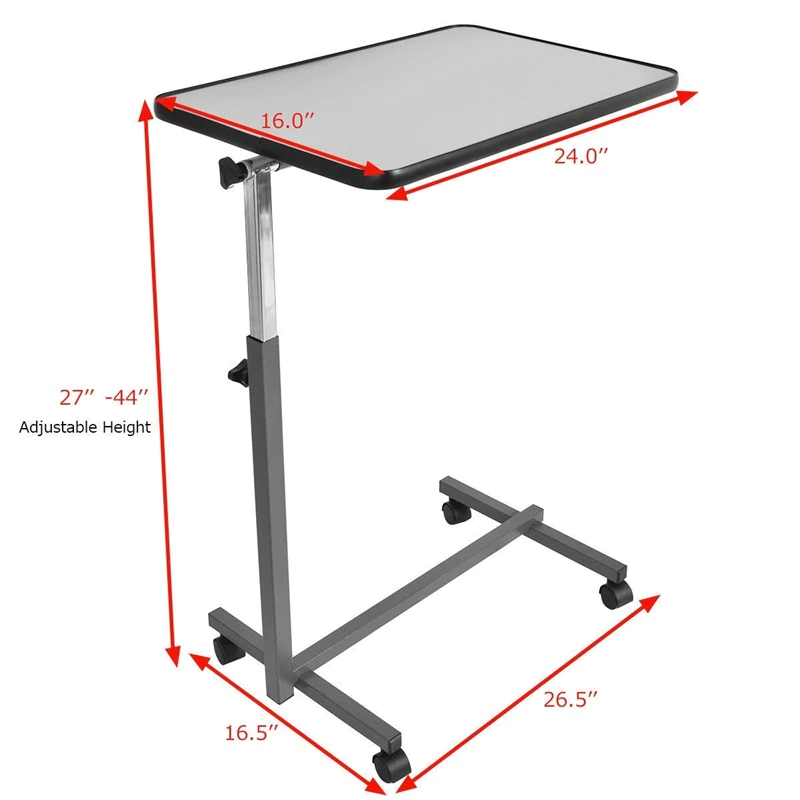 Over Bed Food Tray Small Rolling Computer Table Desks Laptop Table For Bed Height Adjustable Desk For Working Hw49070 Buy At The Price Of 56 93 In Aliexpress In 2020 Laptop