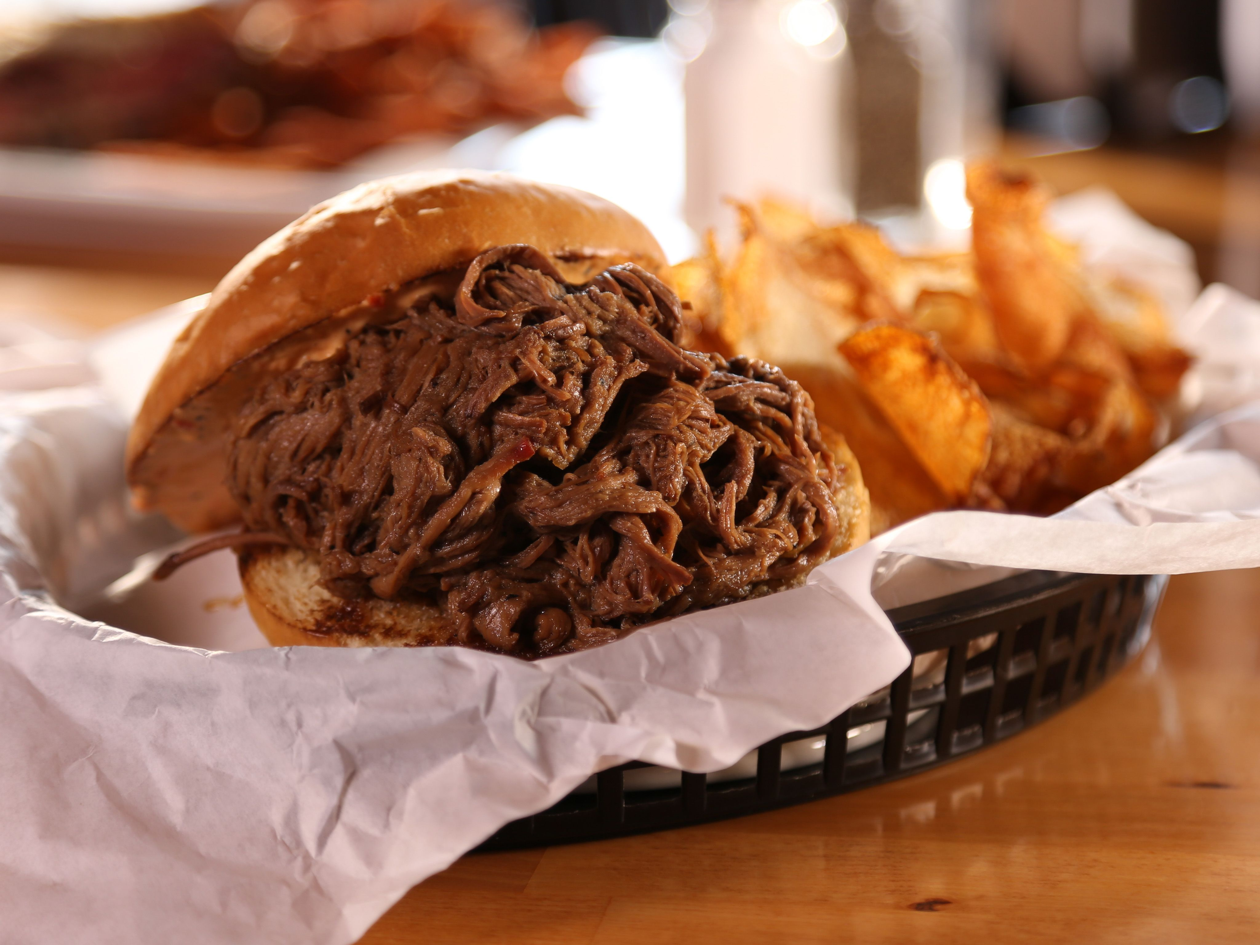 Beer Braised Beef recipe from Diners, Drive-Ins and Dives via Food Network