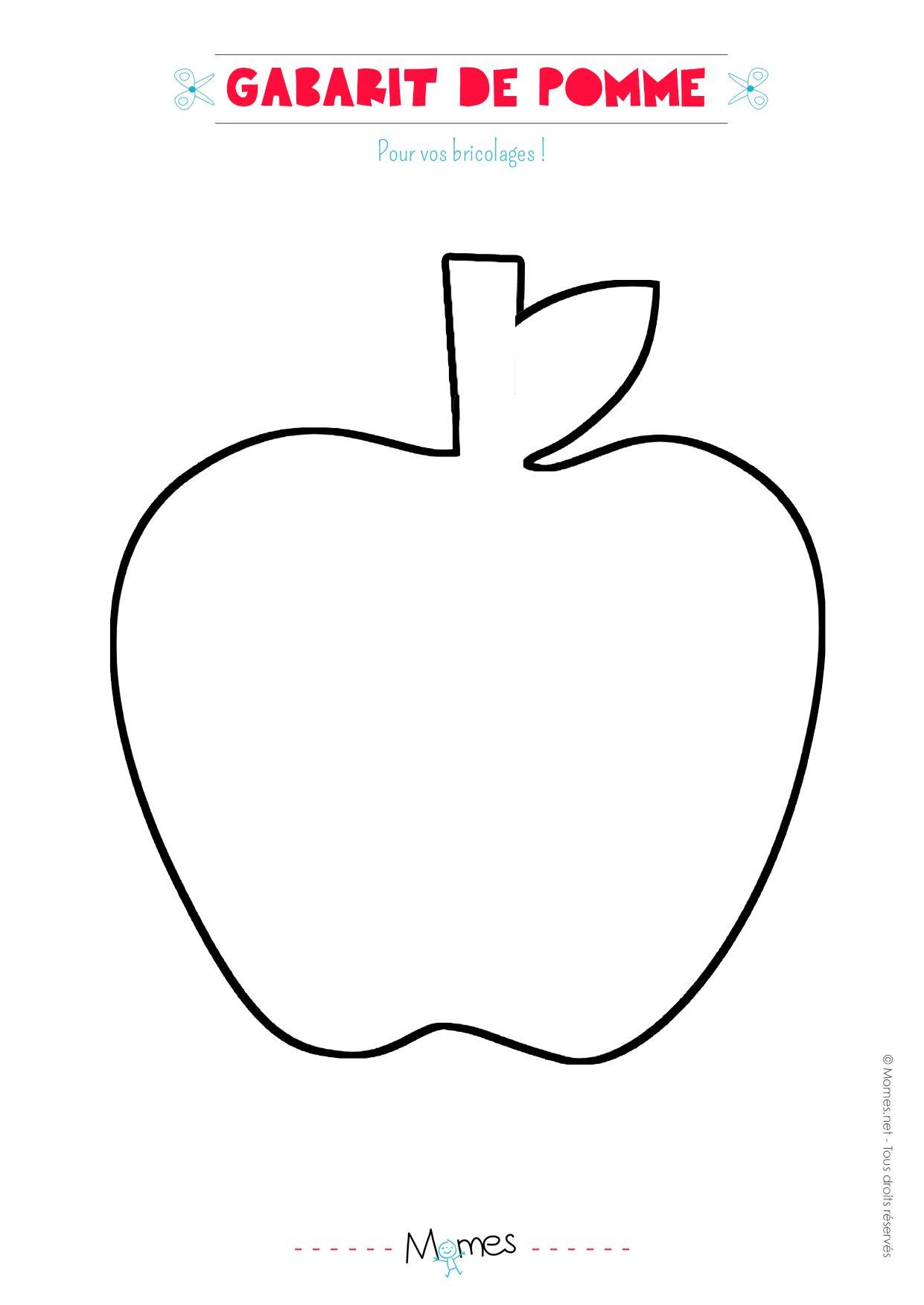 La Pomme Et Son Pote Le Ver De Terre Thème Pomme Modèle Pomme