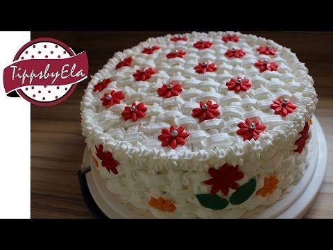muttertagstorte korb torte selber machen anleitung basket pattern birthday cake how to. Black Bedroom Furniture Sets. Home Design Ideas