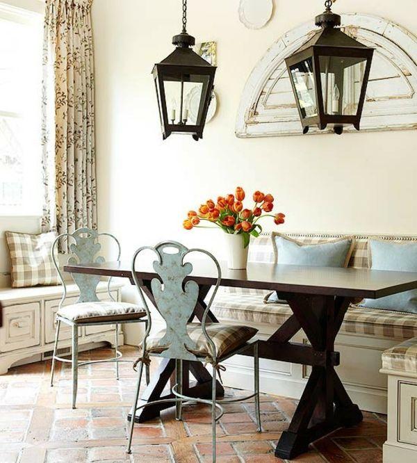 Landküche Lanterne Fliesen-Sitzecke Kitchen Pinterest - alternative zu fliesen in der k che