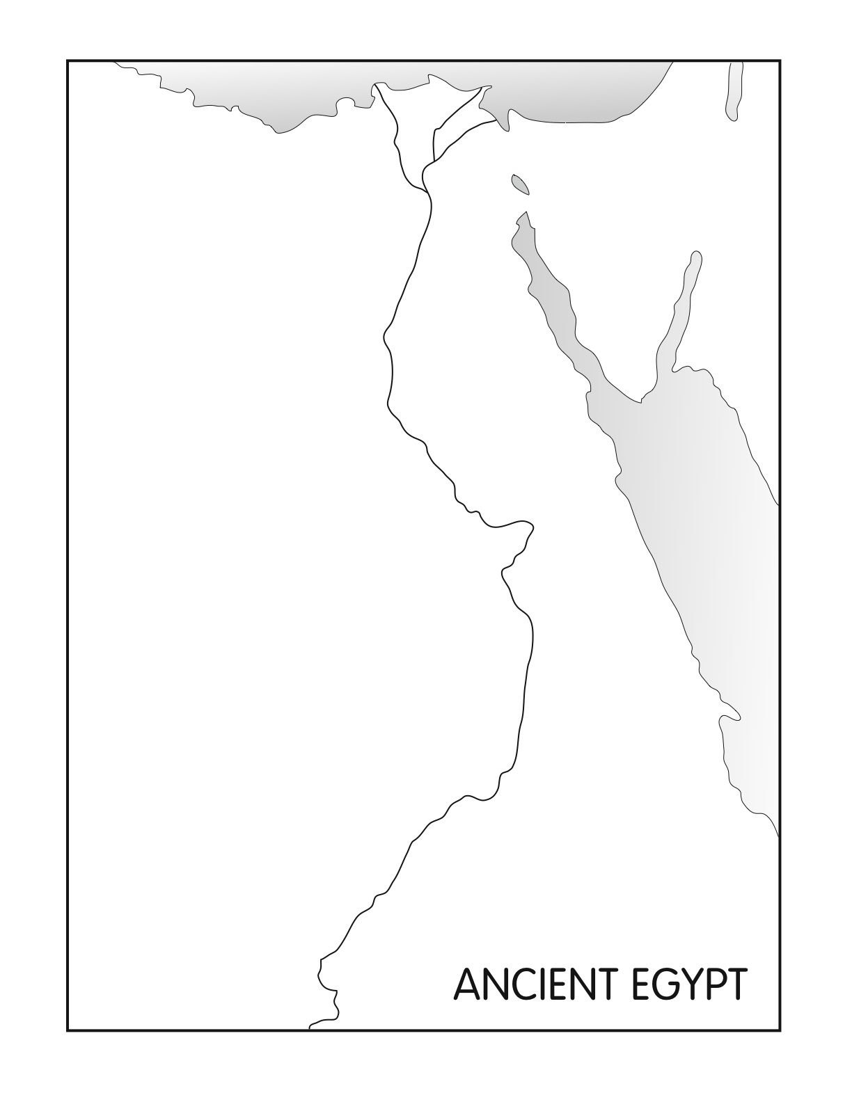 Outline Maps Ancient Egypt and Greece – Ancient Greece Map Worksheet