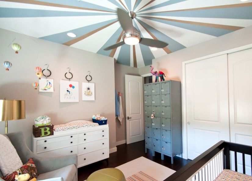 20 Painted Ceiling Ideas That Change Everything Https Freshome Com 0001 11 30 0001 11 30 0001 11 30 Nursery Room Design Contemporary Nursery Blue Ceilings