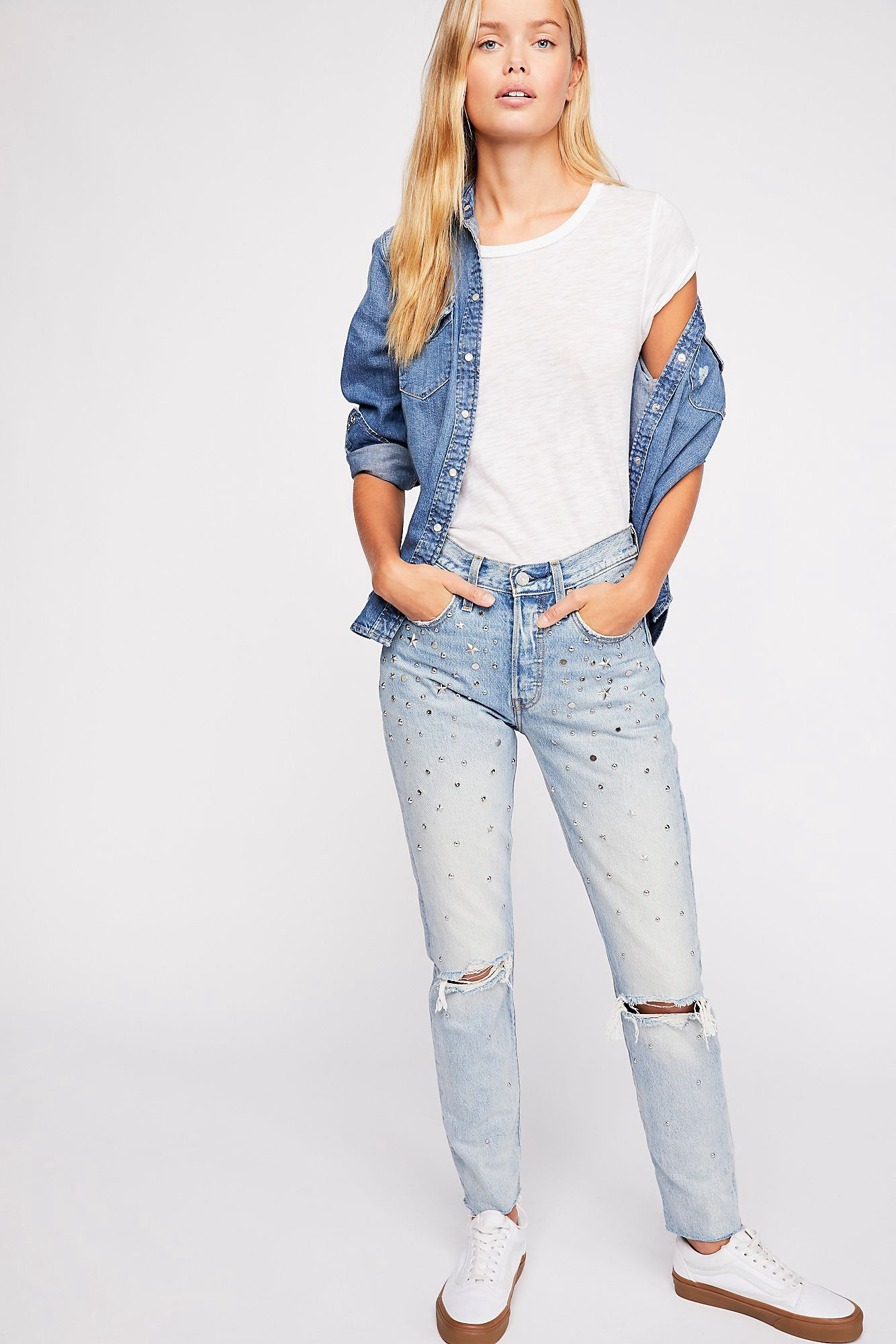 4683941e723 Free People Levi s 501 Skinny Jeans - Counting Stars 27