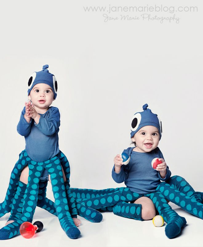 baby halloween costume idea blue octopus halloween costume ideas pinterest kost m. Black Bedroom Furniture Sets. Home Design Ideas