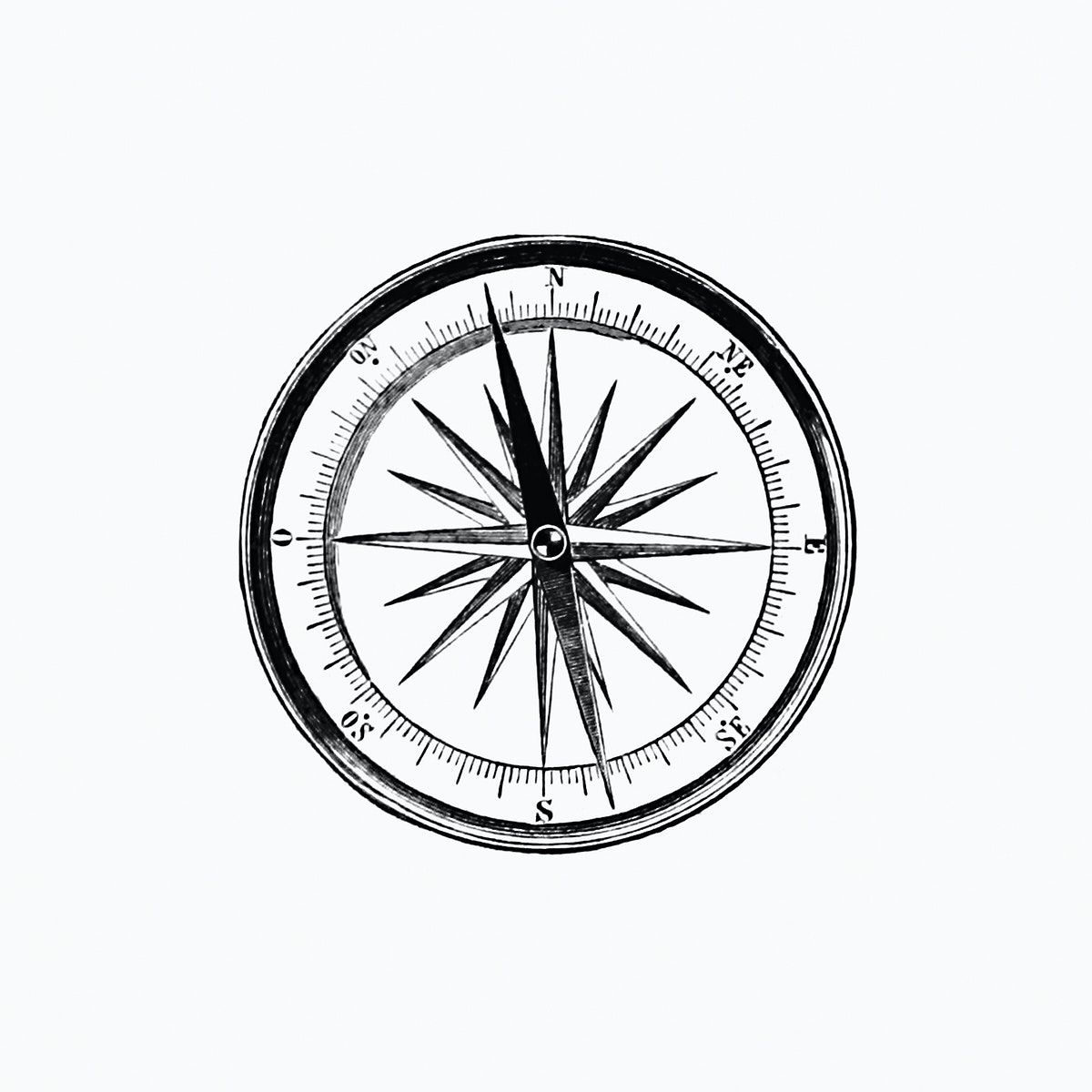 Vintage Victorian Style Compass Engraving Original From The British Library Digitally Enhanced By Rawpixel In 2020 Vintage Compass Vintage Illustration Compass Icon