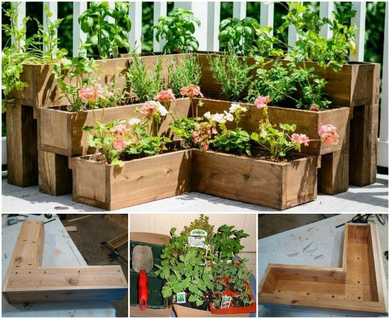 DIY Tiered Herb Gardentutorial for making Landscape Pinterest