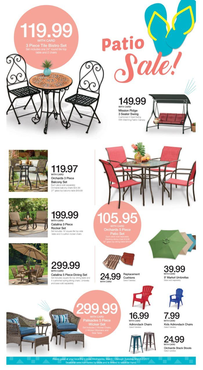Kroger And Fry S Patio Furniture Selection Patio Bistro Set
