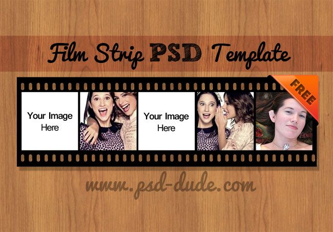 film strip vector psd free template | psddude | framing, Powerpoint templates