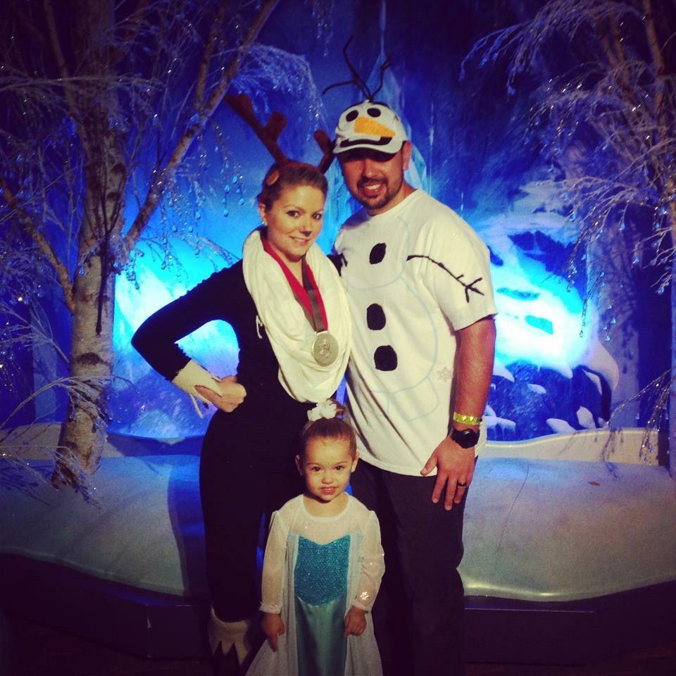 Family Halloween Costume Idea Frozen Sven Olaf And Elsa Homemade