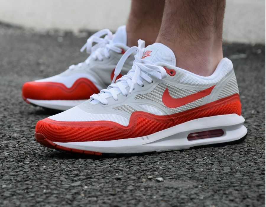 outlet store ef914 d3a9c  Nike Air Max Lunar 1 - White Red  sneakers