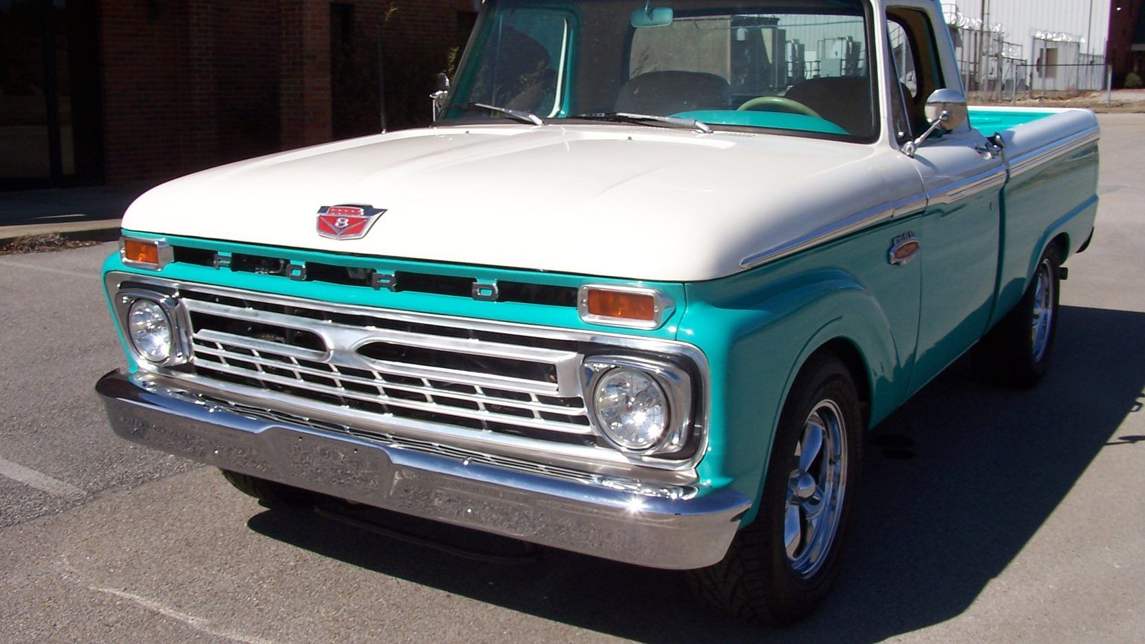 1966 Ford F100 Pickup 1 Print Image 1966 ford f100
