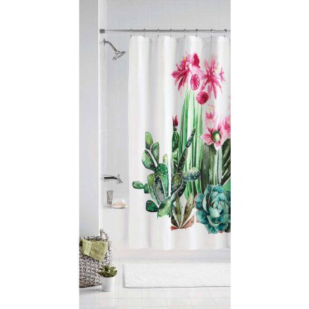 4f721278e9e0c Home in 2019 | My Sweet Home | Cactus shower curtain, Curtains ...